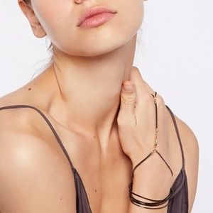 Free People  Slinky Chain Hand Wrap